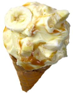 バニラアイス + バナナ